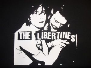 WOMENS PETE DOHERTY & CARL BARAT `THE LIBERTINES` T-SHIRT